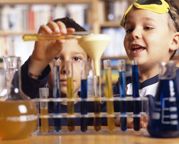 Children in laboratory