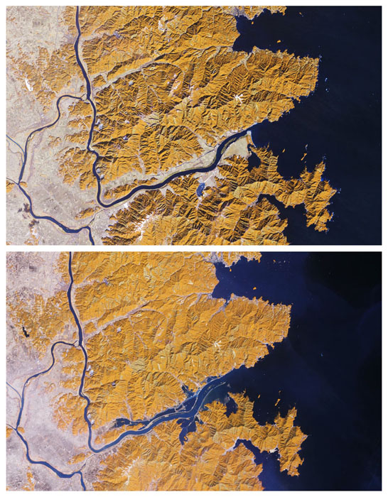 Satellite Image of Kitakami River