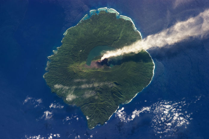 Plume of Steam from Gaua Island