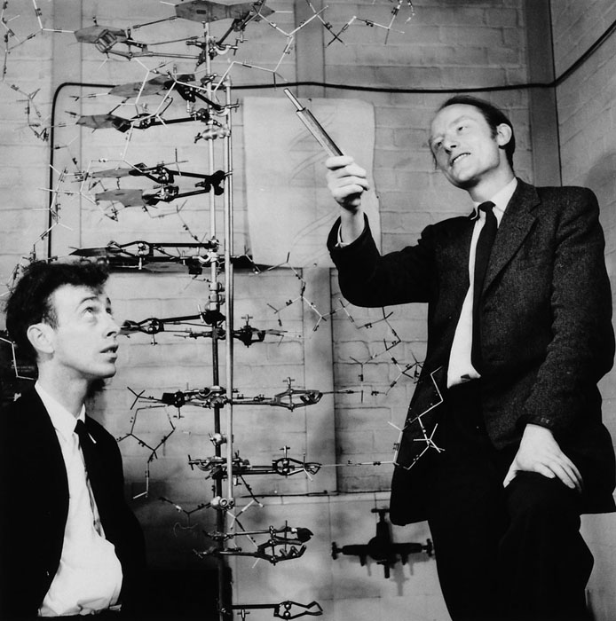Watson & Crick with DNA