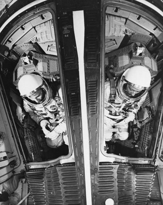 Astronauts Inside Gemini 4