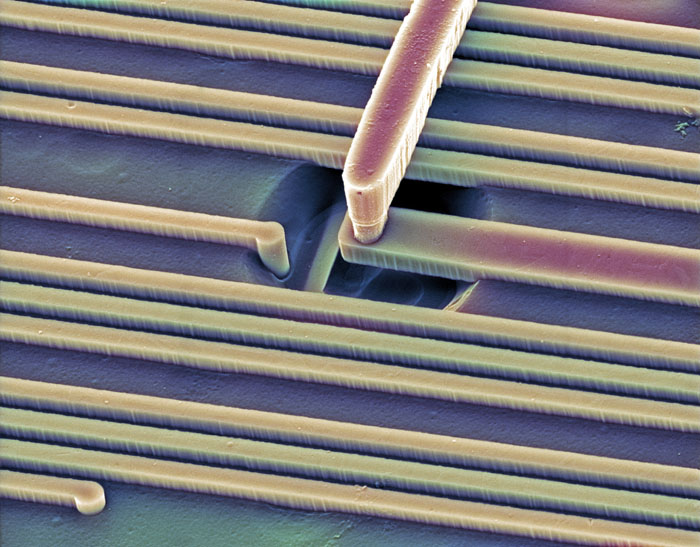 Surface of a Microchip