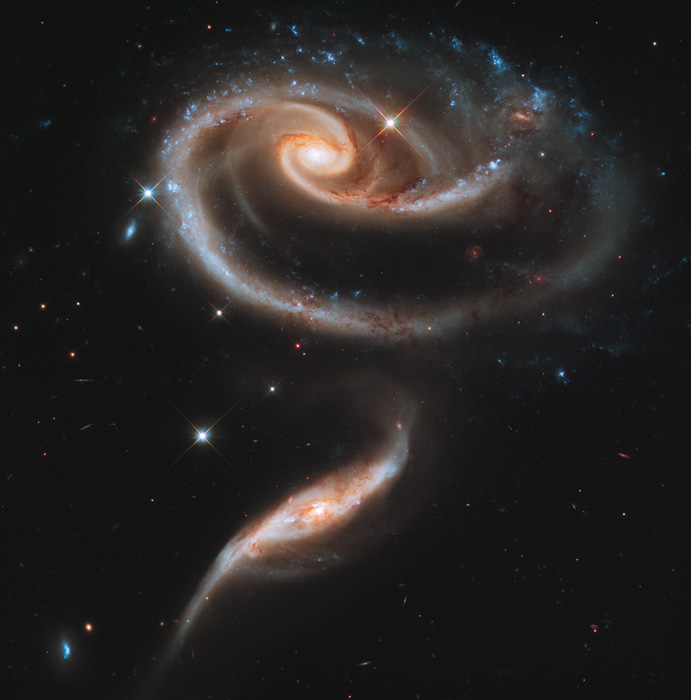 Arp 273, interacting galaxies