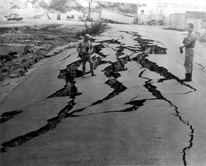 Damaged Road, Peru, 1970