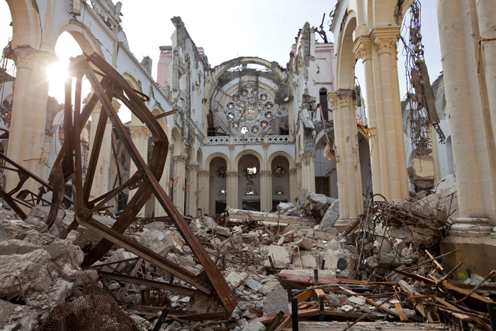 Damaged Cathedral, Haiti, 2010