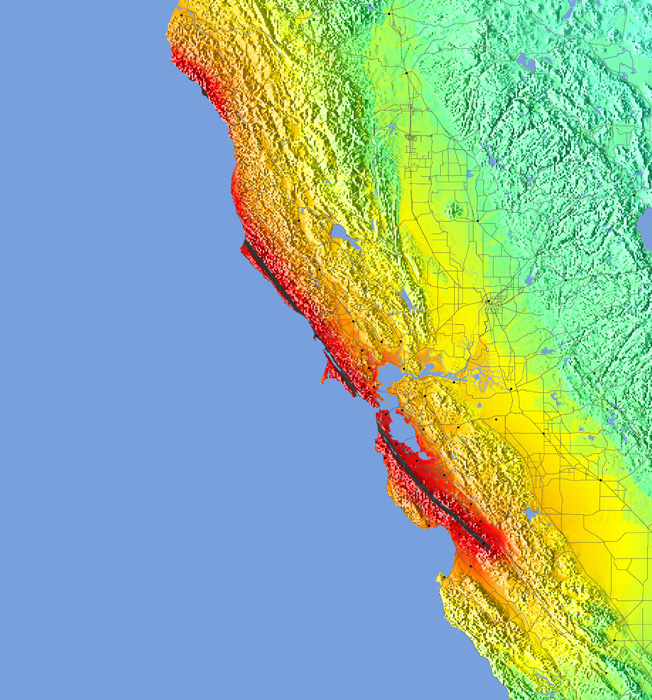 Earthquake Intensity Map