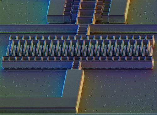 Micro-accelerometer, SEM