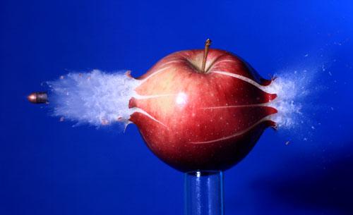 Bullet Hitting Apple