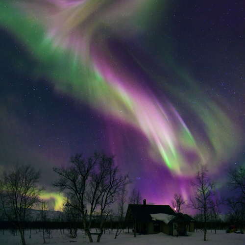 Aurora borealis over Sweden
