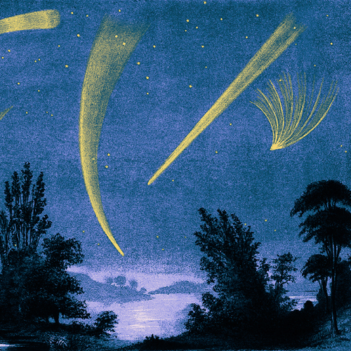 Comets, historical illustration