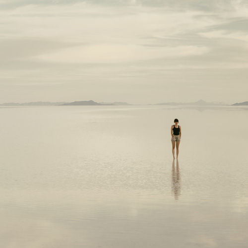 Woman at salt flats