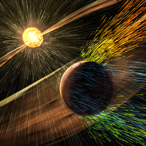 Solar Wind and Mars