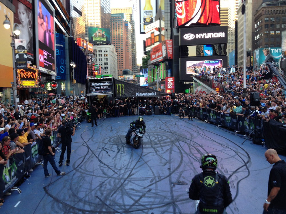 Kawasaki Ninja Times Square Takeover