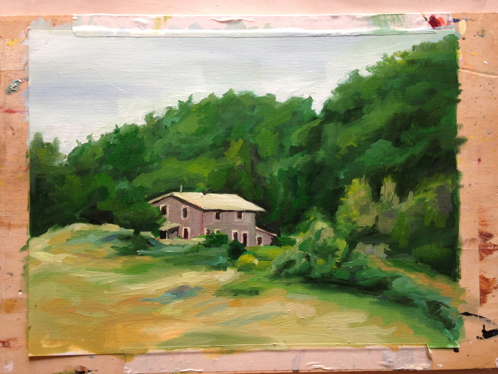 quick oil sketch on the first day