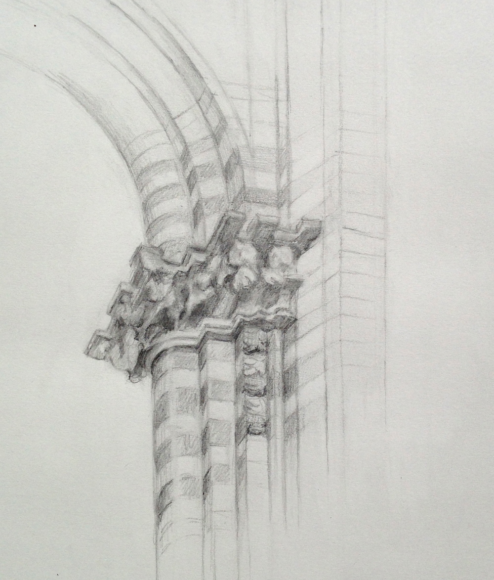 Unfinished Sketch of the Orvieto Duomo
