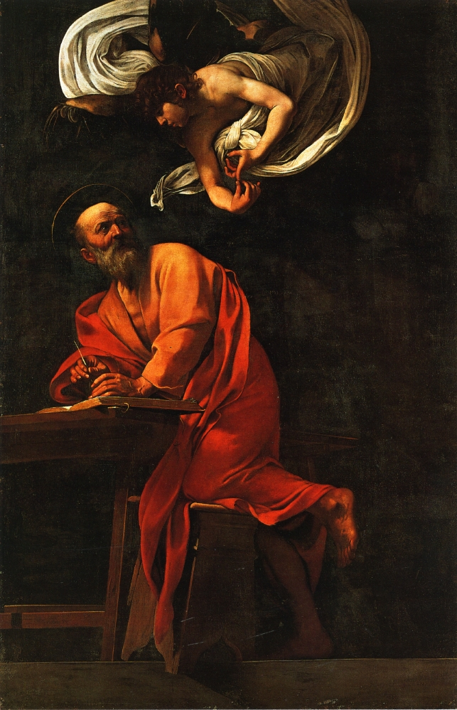 Michelangelo Caravaggio, The Inspiration of Saint Matthew, 1602