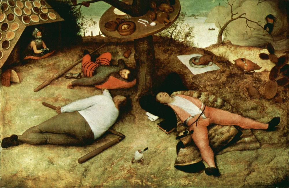 Pieter Bruegel the Elder,  The Land of Cockaigne,  Oil on panel,  1567.