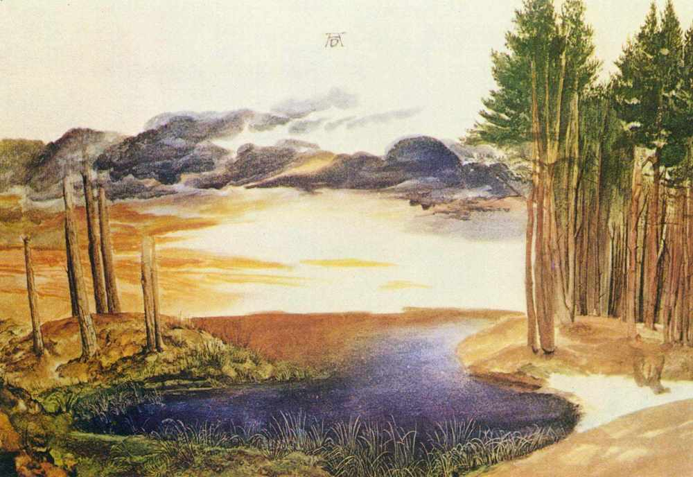 Albrecht Durer, Pond in the Wood, Watercolor, 1496
