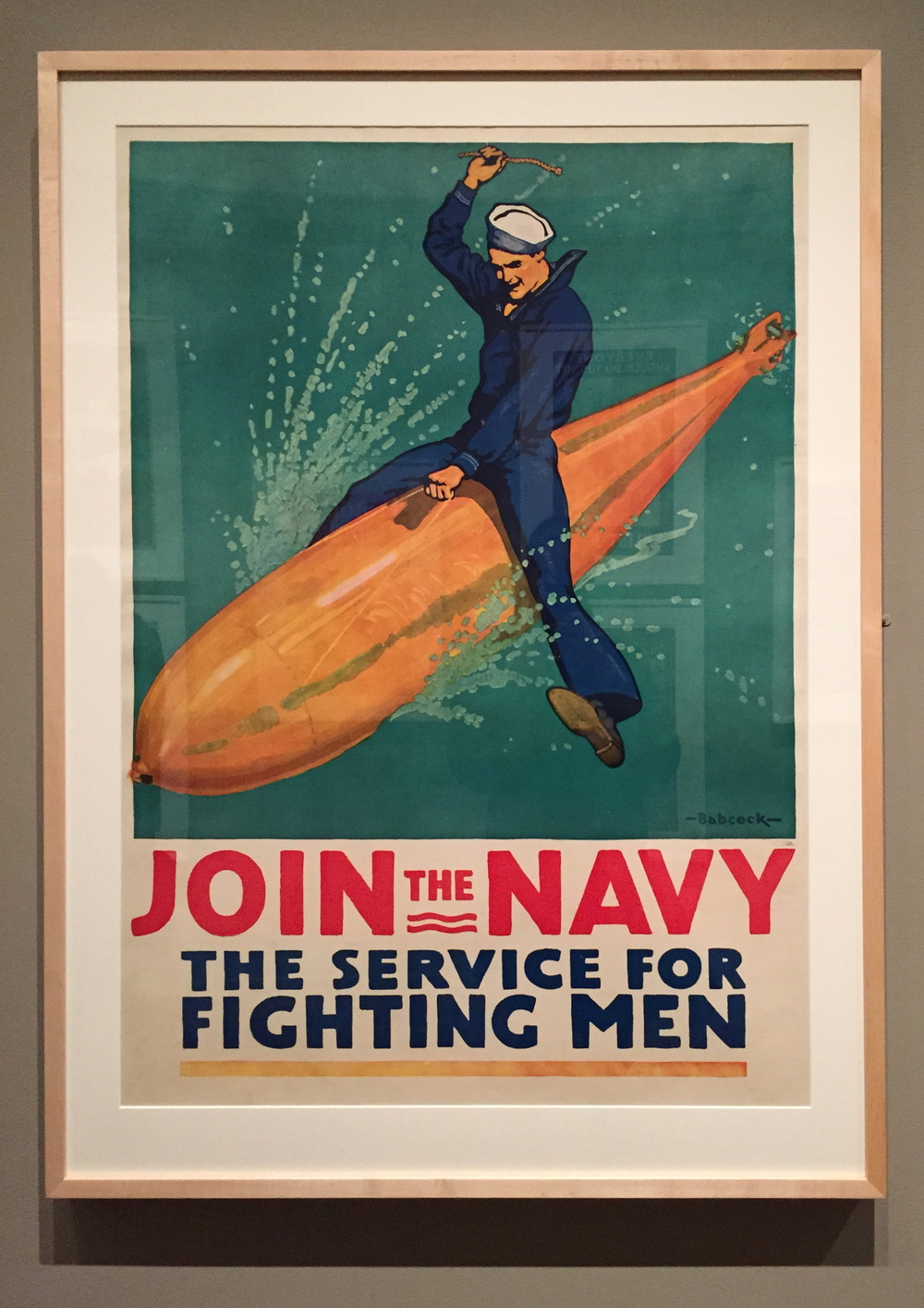 Richard Fayerweather Babcock,  Join the Navy - The Service for Fighting Men,  Color Lithograph, 1917