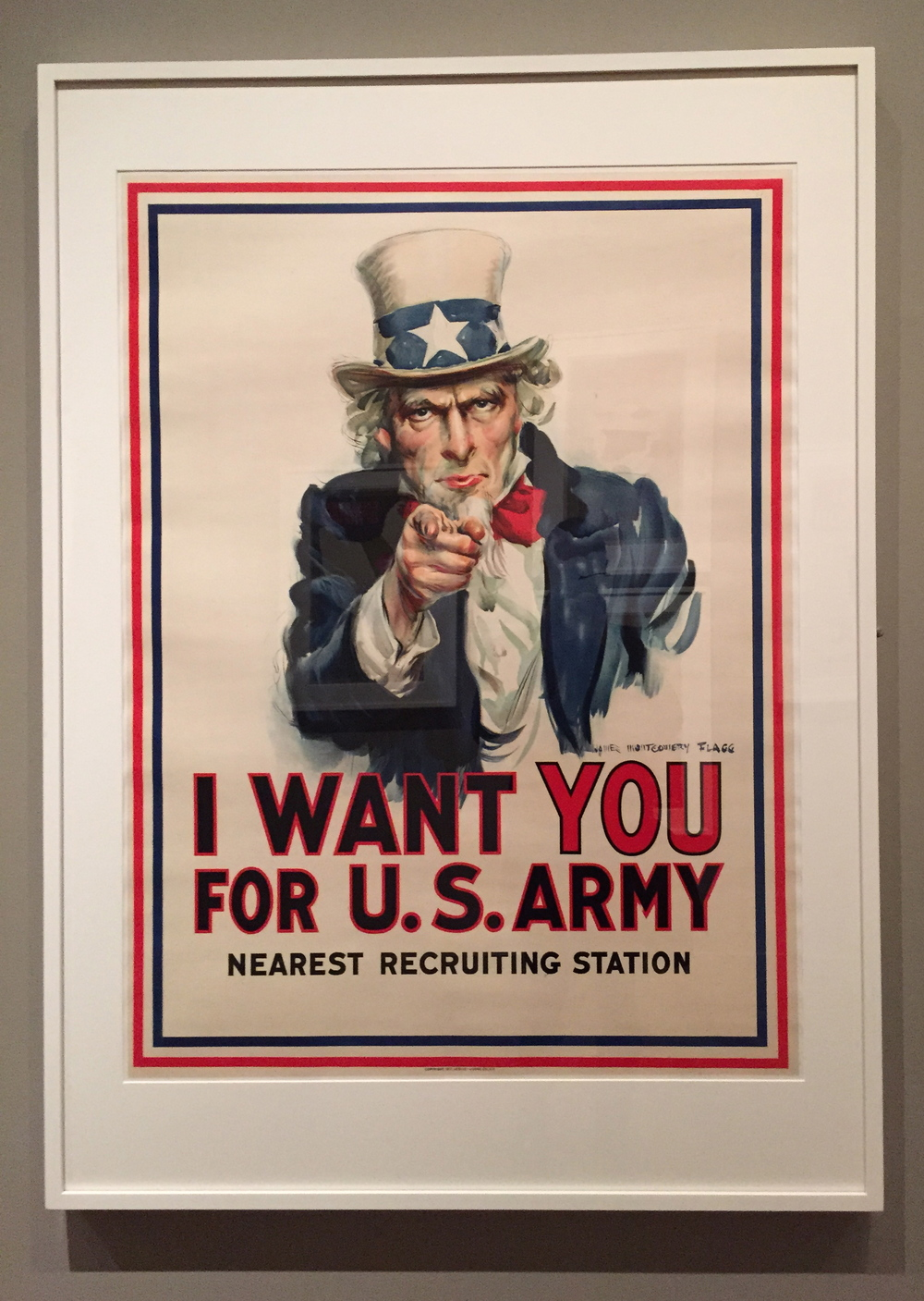 James Montgomery Flagg,  I Want You for U.S. Army, Color Lithograph, 1917