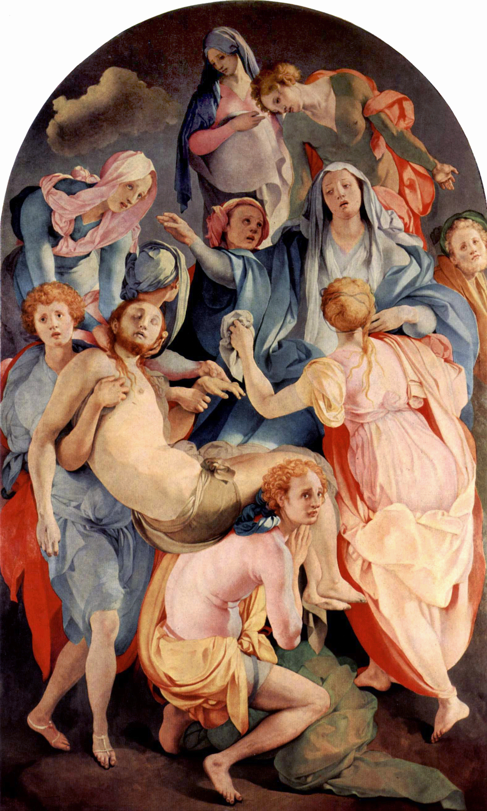 Jacopo Pontormo,  The Deposition from the Cross,  Oil on wood, ca. 1525-1528