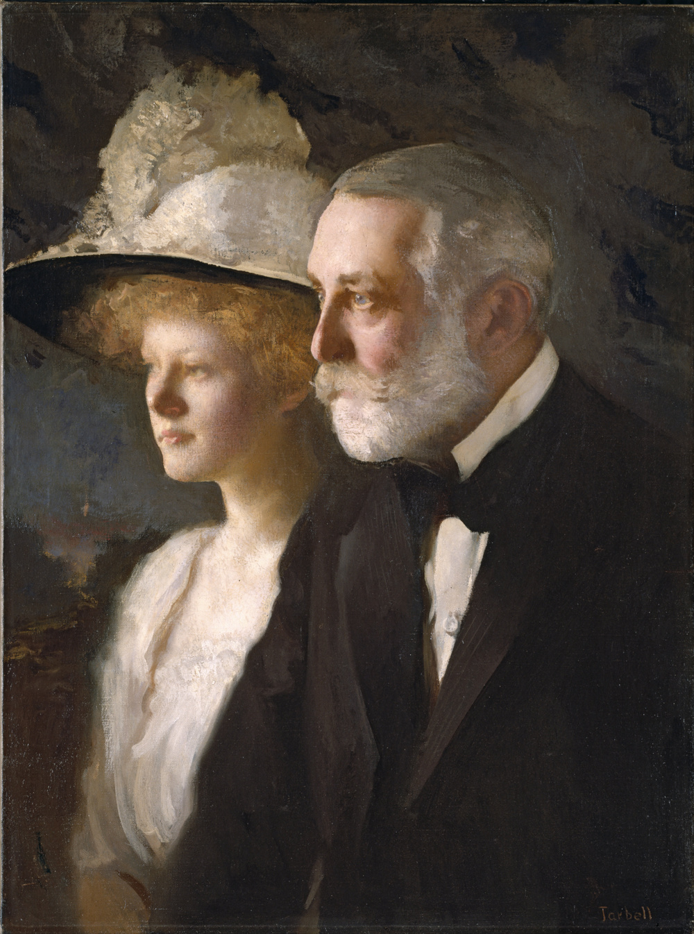 Edmund C. Tarbell, Henry Clay Frick and Helen Frick, 1910, Oil on canvas
