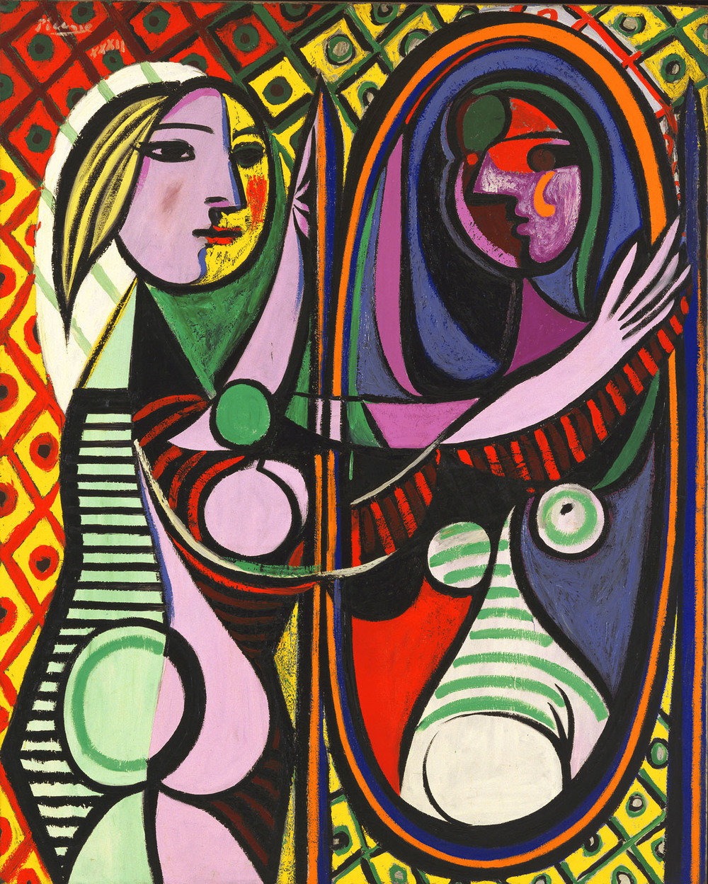 Pablo Picasso,  Girl Before a Mirror,  1932, Oil on canvas