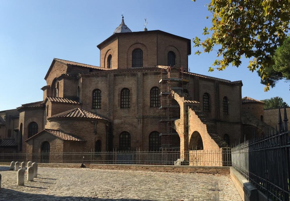 Exterior of the Basilica di San Vitale, 526 - 547 A.D.