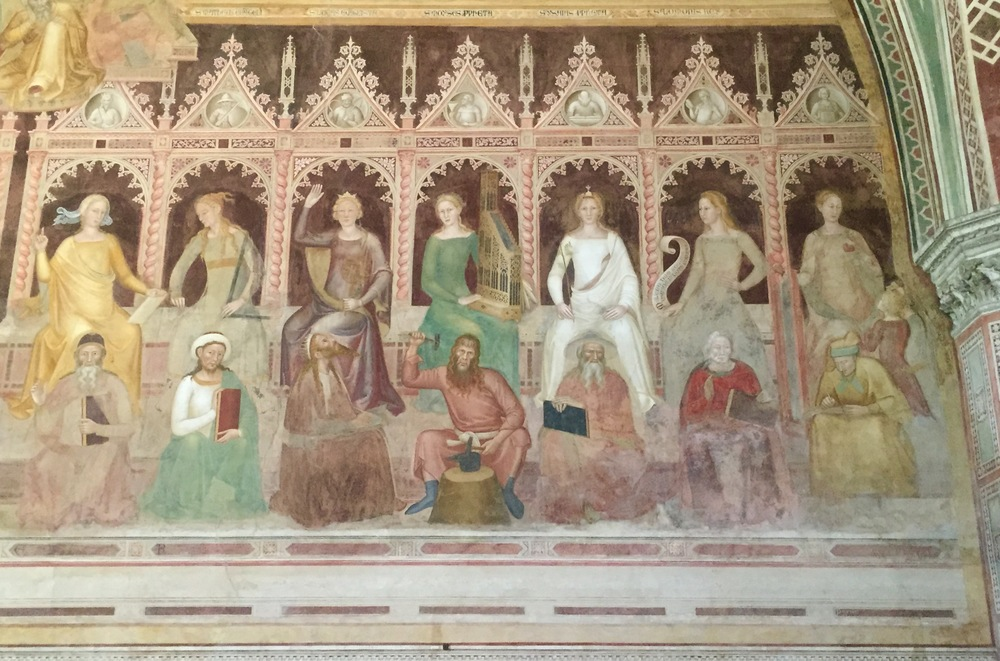 Andrea di Bonaiuto, Detail from  The Triumph of St. Aquinas and Allegory of Christian Learning  in the Spanish Chapel at Santa Maria Novella, 1365-1367, Fresco