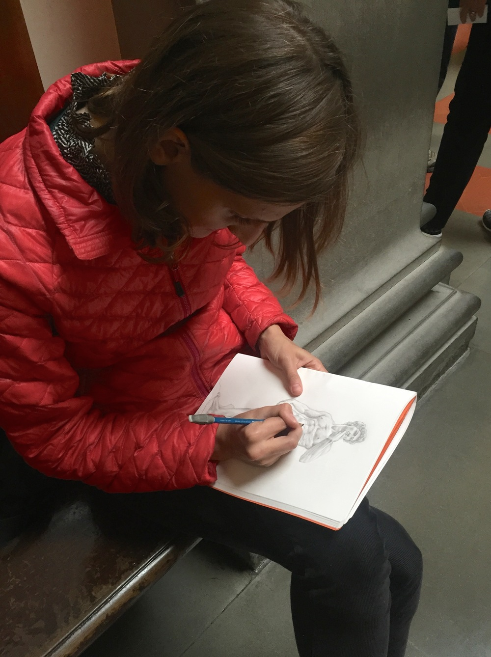 Drawing in the Galleria dell' Academia