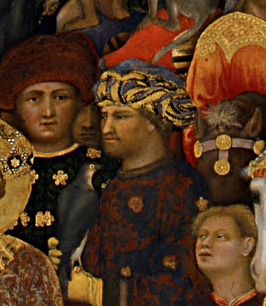 Gentile da Fabriano, detail from   The Adoration of the Magi,   1423, Tempera