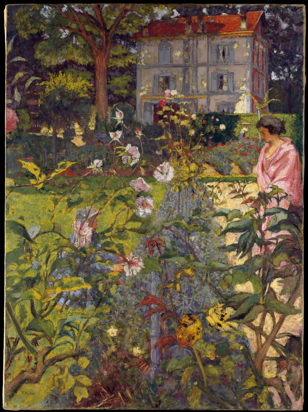 Edouard Vuillard,  Garden at Vaucresson,  1920, Distemper on canvas