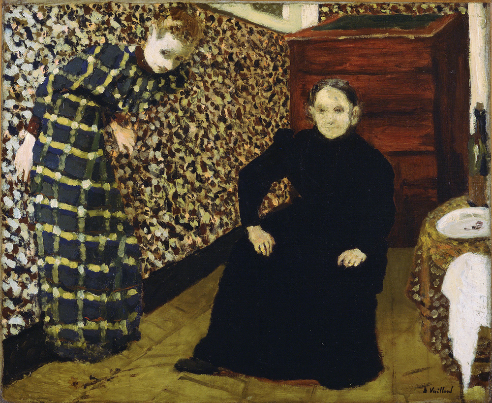 Edouard Vuillard,  Interior, Mother and Sister of the Artist,  1893, Oil on canvas