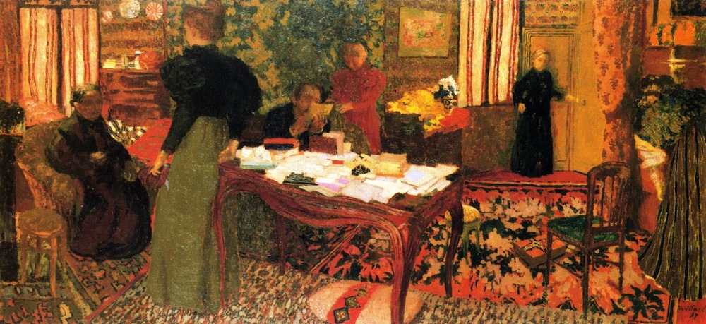 Edouard Vuillard,  Large Interior with Six Figures  ,  1897, Oil on canvas