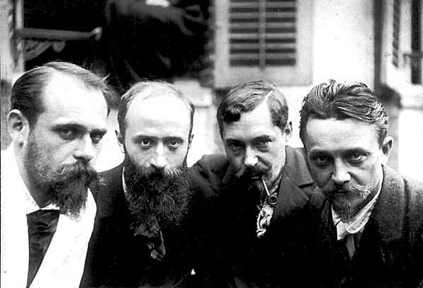 From Left: Ker-Xavier Roussel, Edouard Vuillard, Romain Coolus, Felix Vallotton