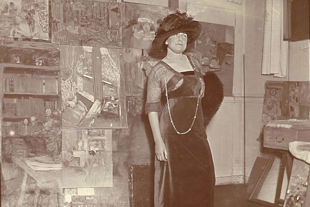 Lucy Hessel in Vuillard's Studio