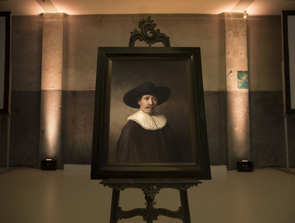 The Next Rembrandt,  a computer-generated painting imitating the style of Rembrandt van Rijn