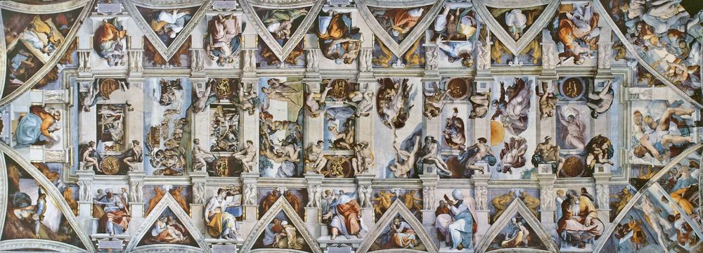 Michelangelo, The   Sistine Chapel Ceiling,  1508-1512,Fresco