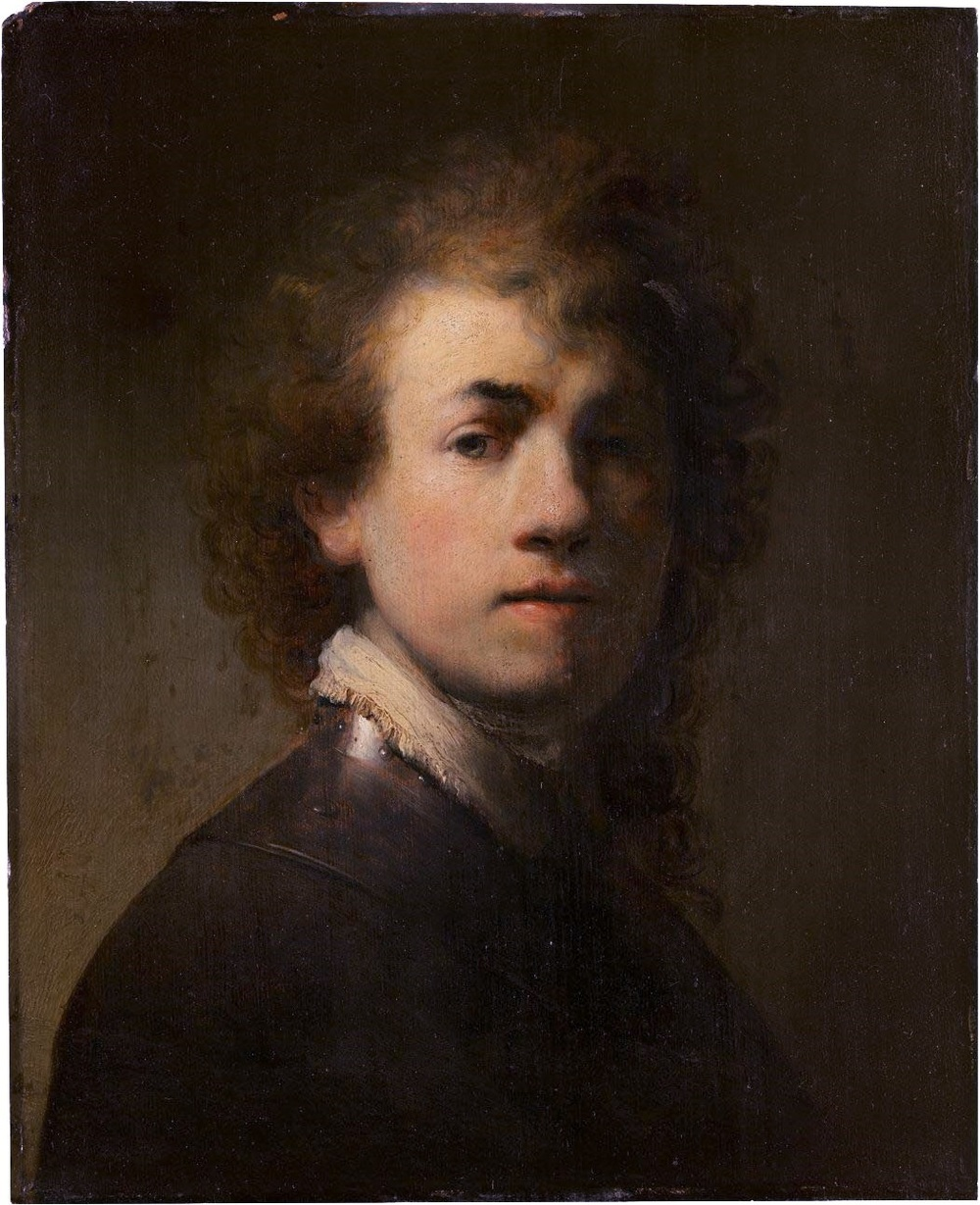 Rembrandt van Rijn,  Self-Portrait,  1629, Oil on canvas