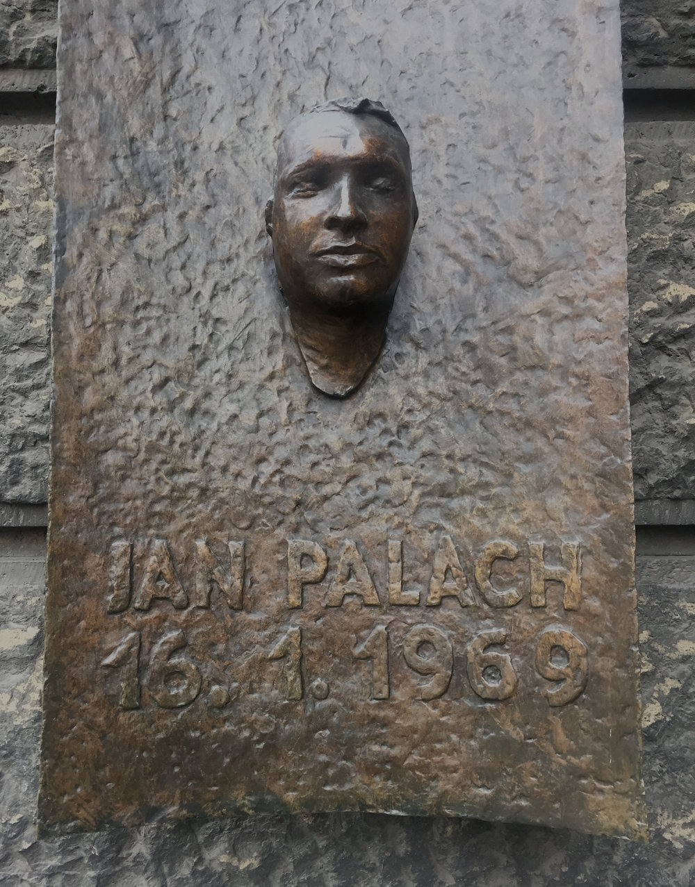 Jan Palach's death mask taken by Olbram Zoubek
