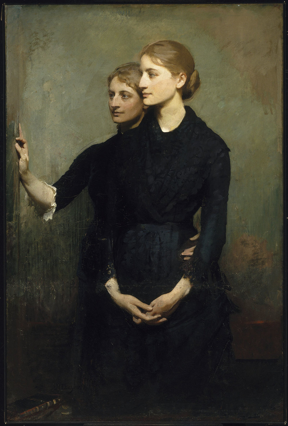 Abbott Thayer,  The Sisters,  1884, Oil on canvas
