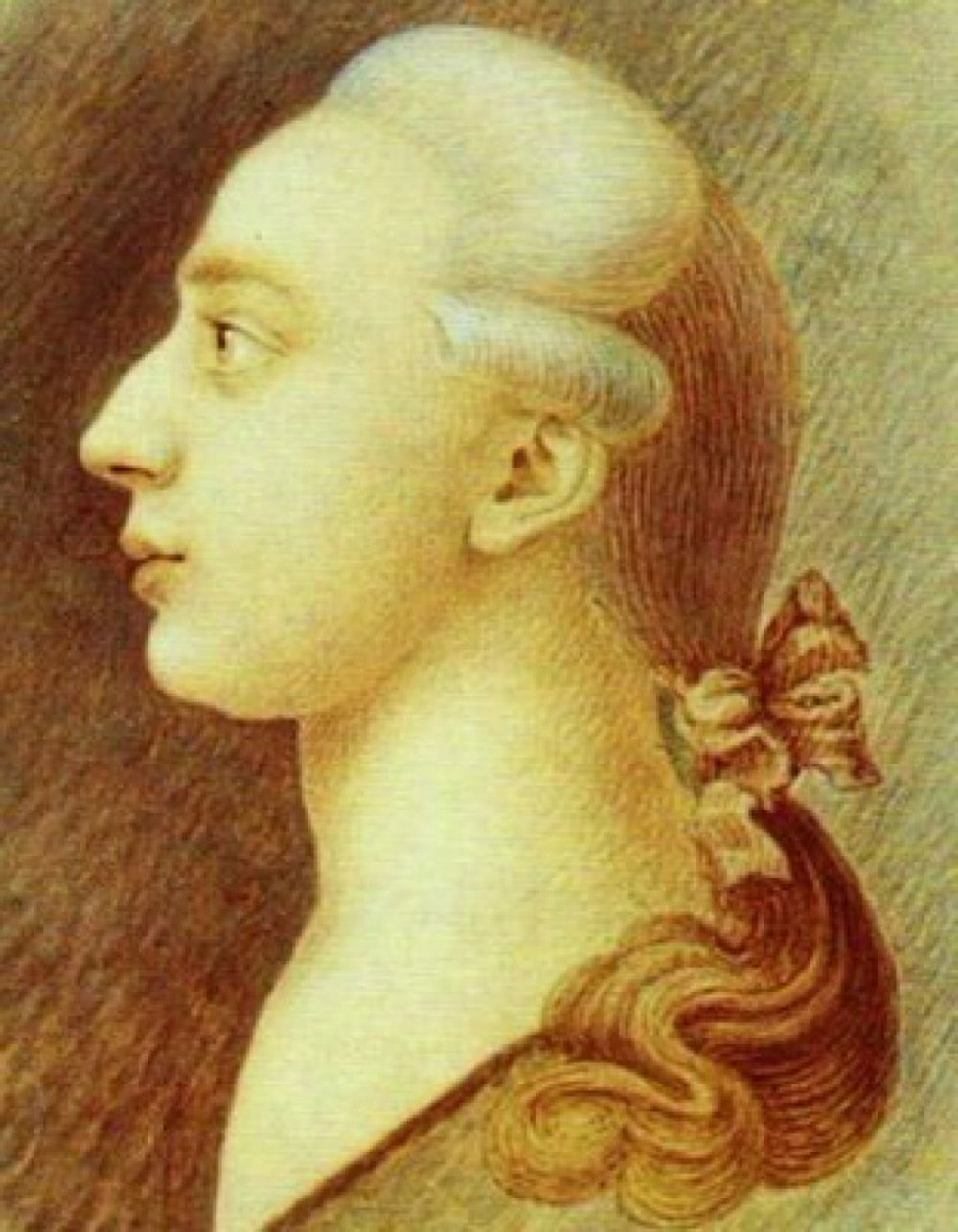 Drawing of Giacomo Casanova by his brother Francesco
