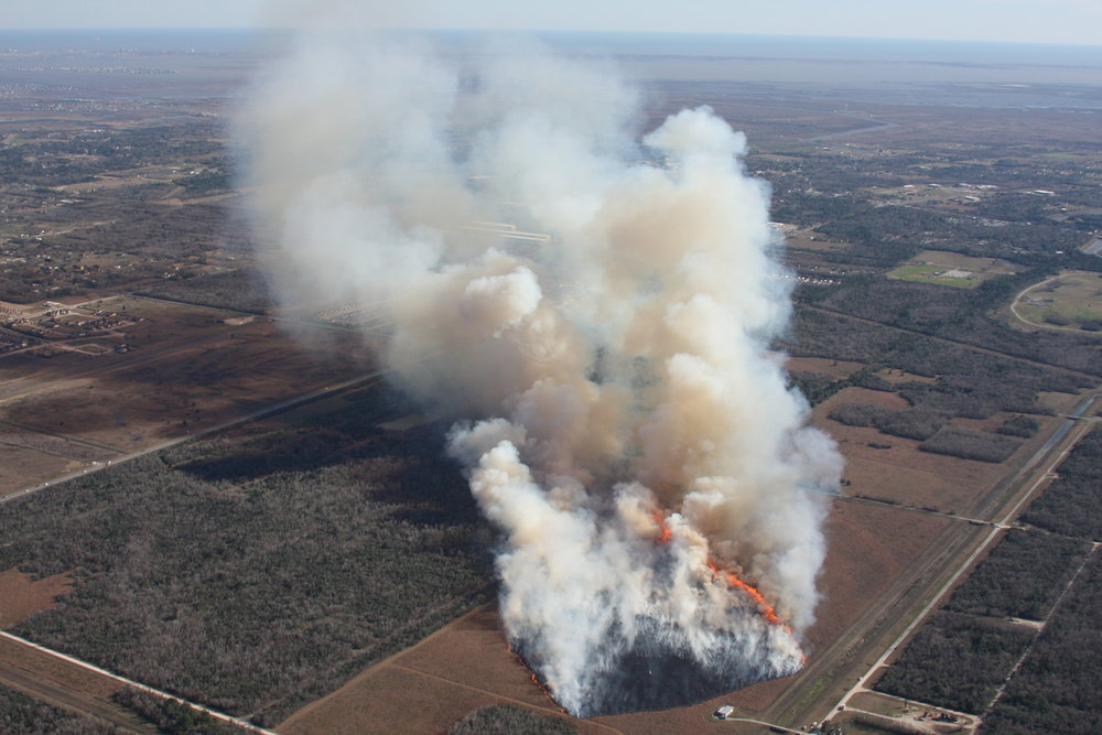 AERIAL VIEW OF FIRE FLUX II EXPERIMENT, 30 JANUARY 2013