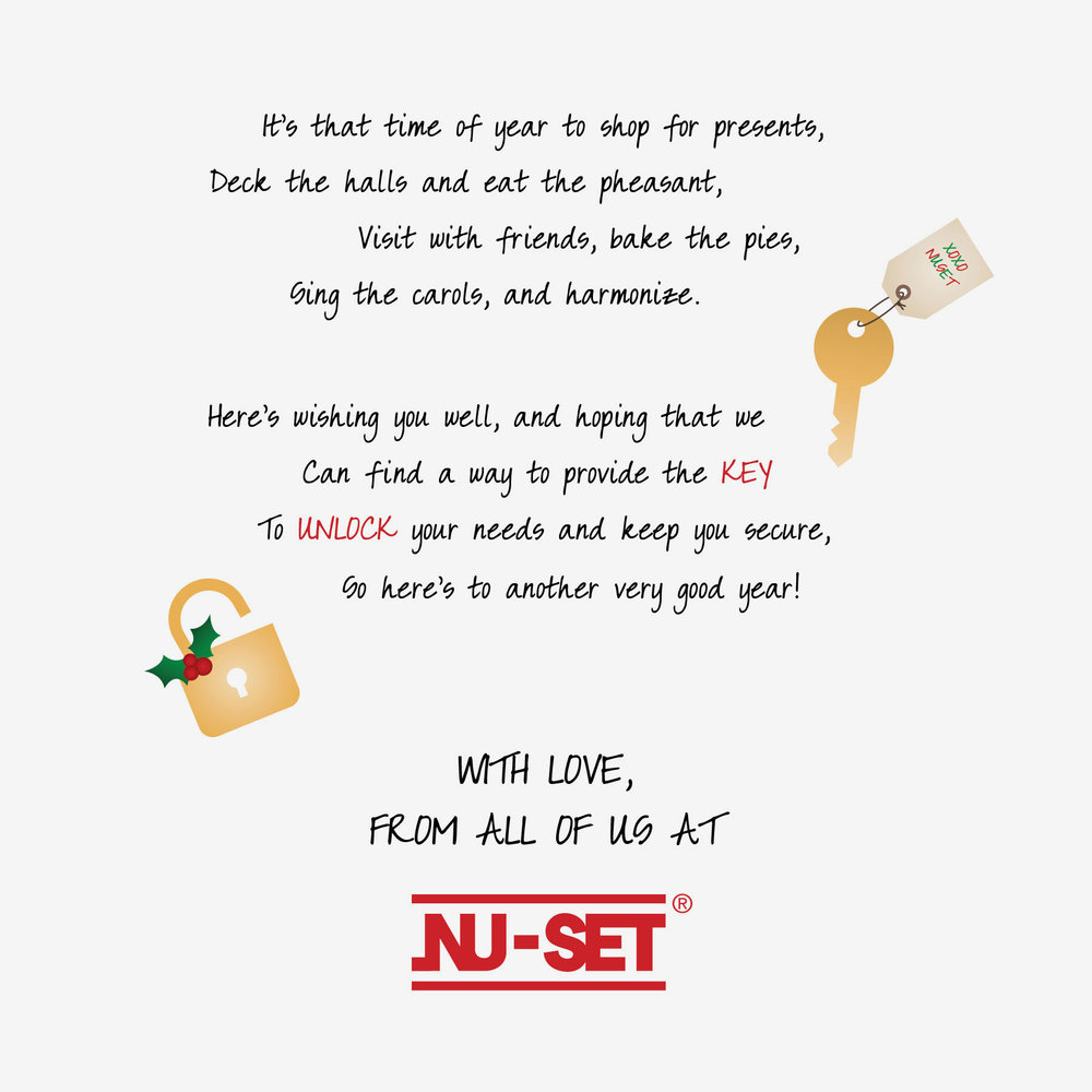 Playful holiday poem and holiday style icons (INSIDE)