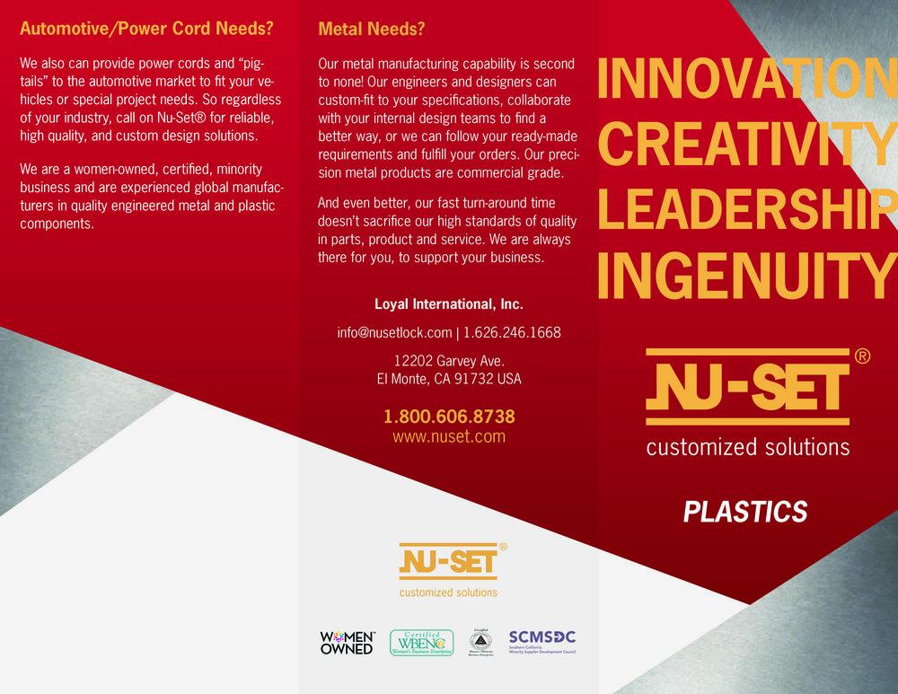 Plastics Trifold Brochure (INSIDE FLAP) | (BACK) | (FRONT)