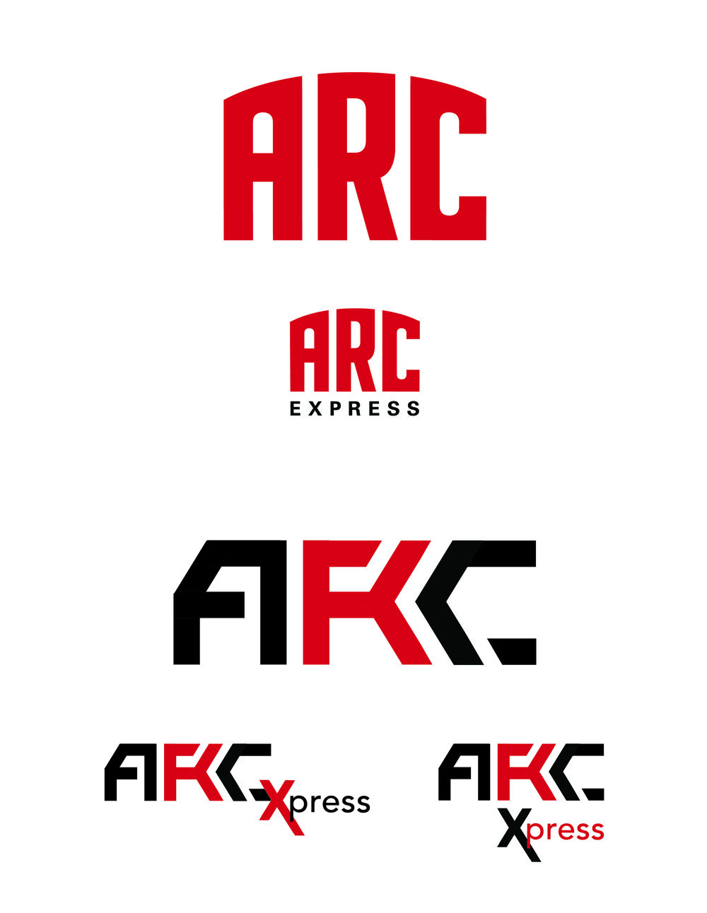 "These were the two final logos I designed for ARC Express. The main logo would replace the Aztec Recreation Center, and the express logos would be used for the new smaller ""express"" gym."