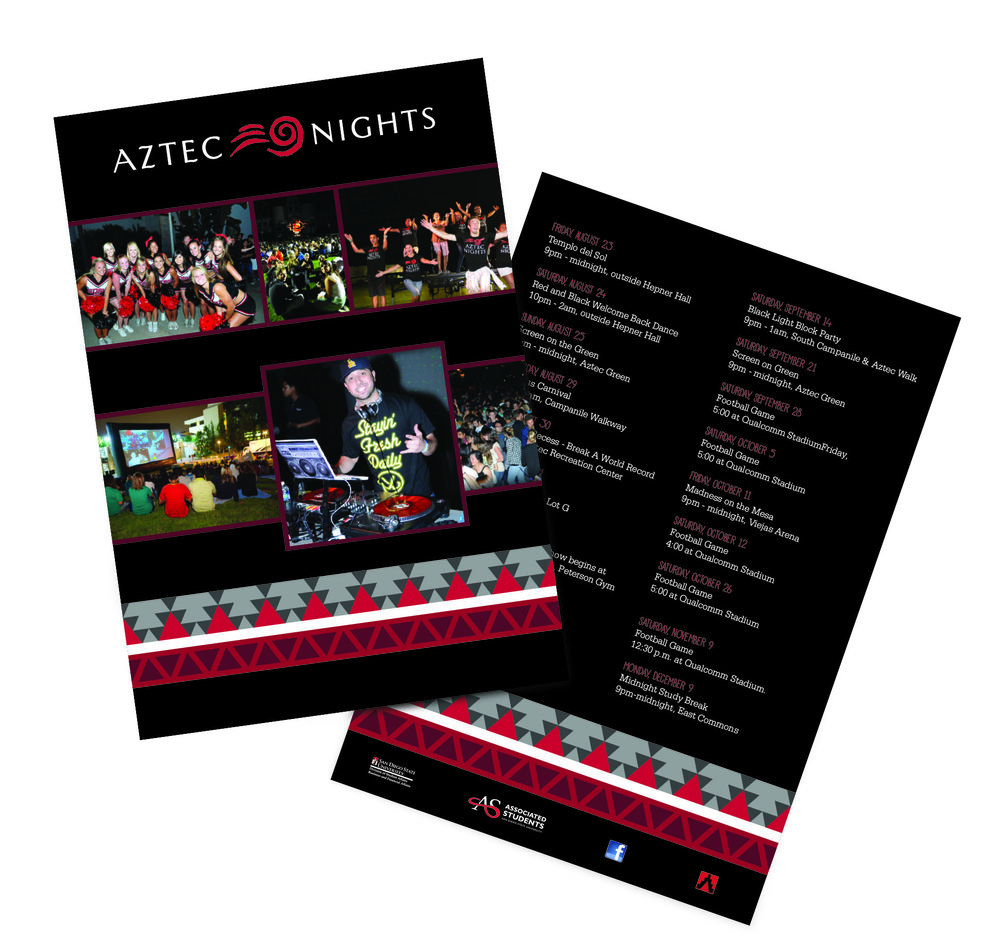 Aztec Nights Template 1 Ravecard design