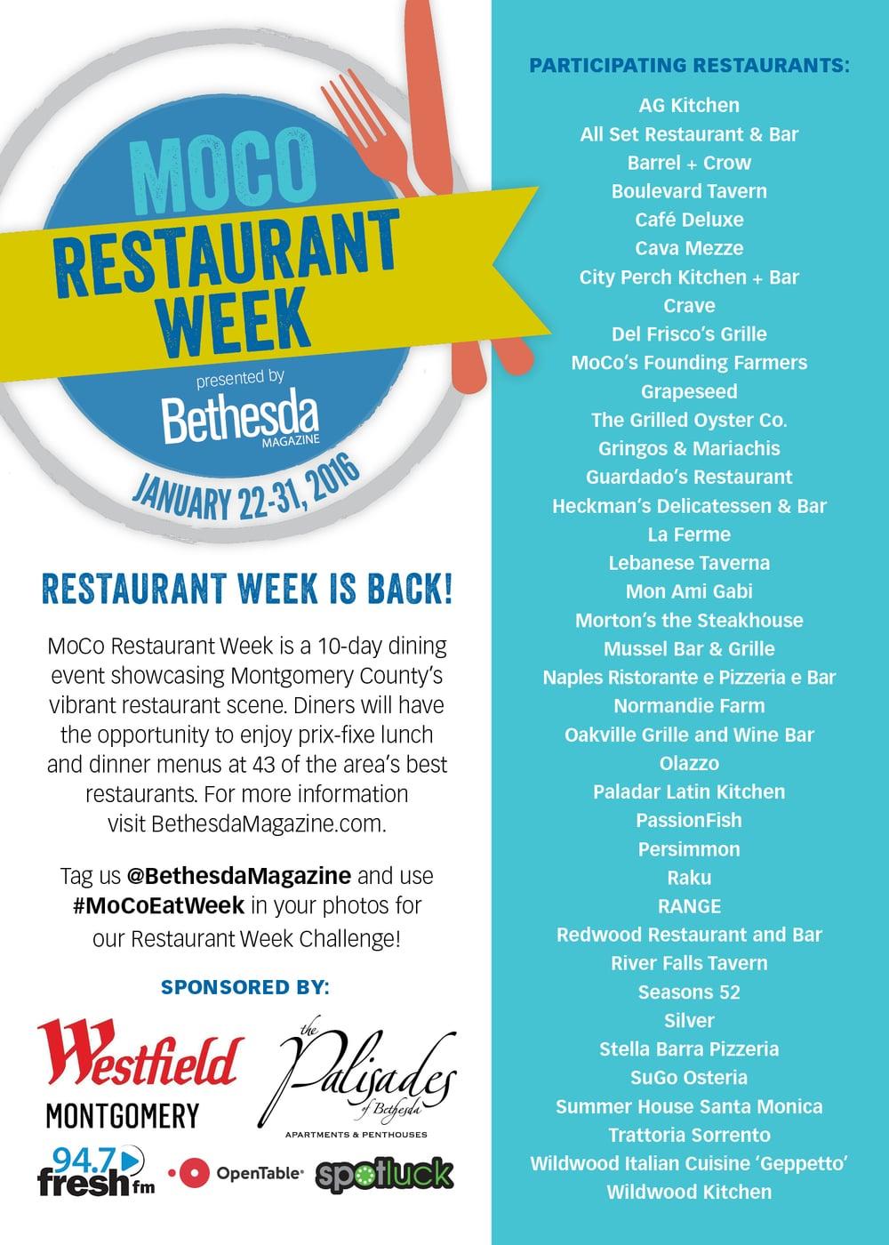 "5x7"" Flyer | MoCo Restaurant Week"