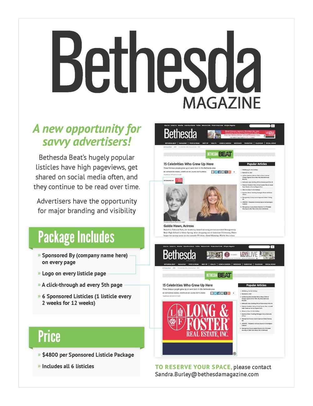 Sell Sheet | Bethesda Beat Ads