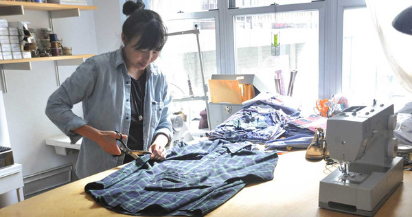 Designer Karina Kallio locally sources high quality fabrics and then cuts each garment by hand.